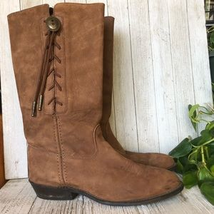 Vintage Western Suede Boots
